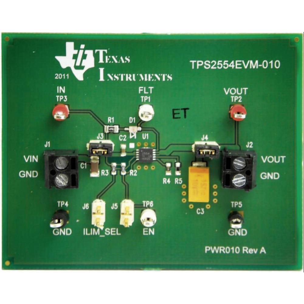 Razvojna plošča Texas Instruments TPS2554EVM-010