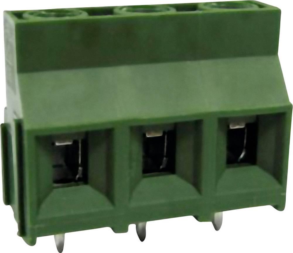 Skrueklemmeblok DECA MB910-952M03 5.26 mm² Poltal 3 Grøn 1 stk