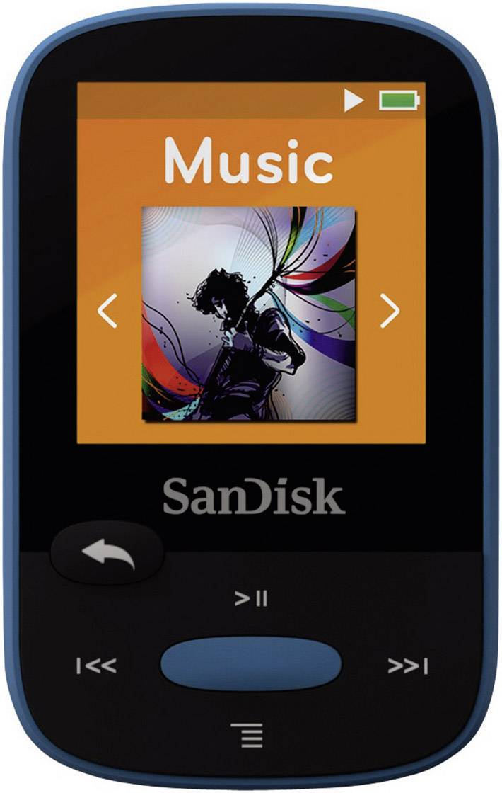 mp3 player sandisk sansa clip sport 8 gb blue clip from conrad com rh conrad com SanDisk MP3 Player Instructions sandisk sansa clip+ 4gb mp3 player user manual