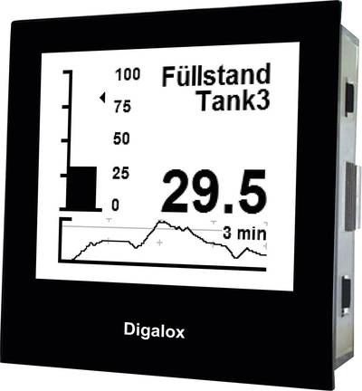 TDE Instruments Digalox DPM72-PP Graphical DIN-panelmeter for DC shunt measurement and analog si