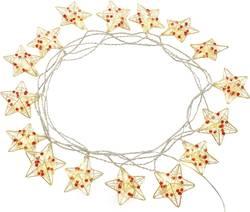 Motiv-lyskæde Polarlite Stjerner 16 LED Varm hvid 9.5 m Indvendigt via strømdrift