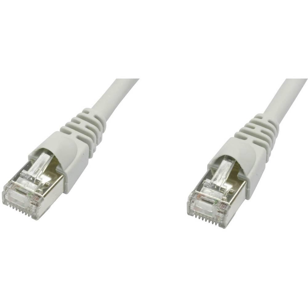 RJ45 mrežni kabel CAT 5e F/UTP [1x RJ45 utikač - 1x RJ45 utikač] 2 m sivi nezapal., zaštićeni L00001D0036 Telegärtner