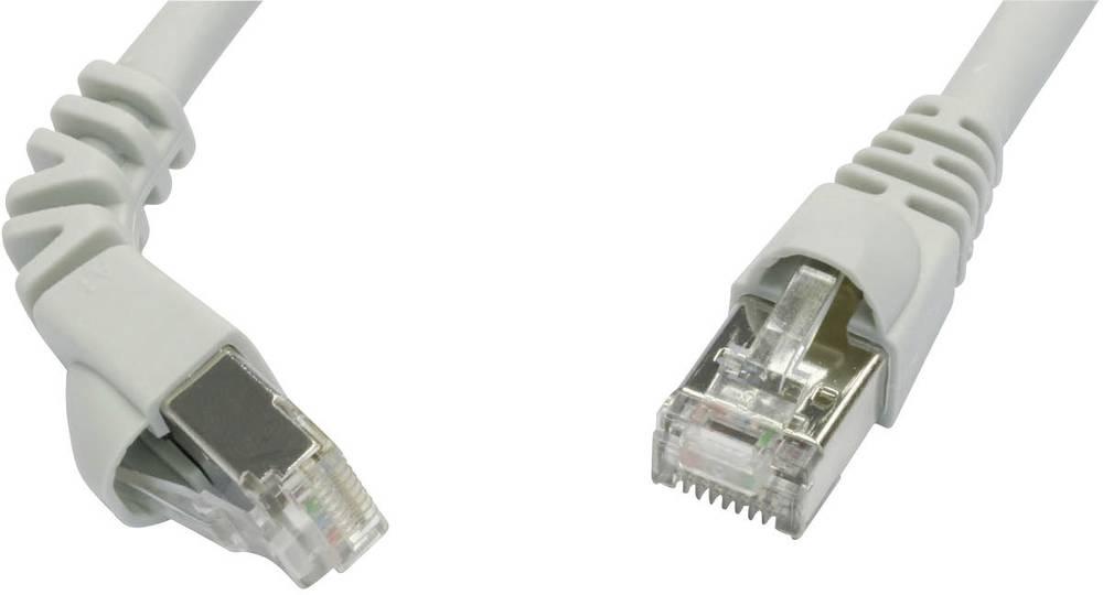 RJ45 mrežni kabel CAT 6A S/FTP [1x RJ45 utikač - 1x RJ45 utikač] 3 m siva nezapaljivi, sa zaštitom