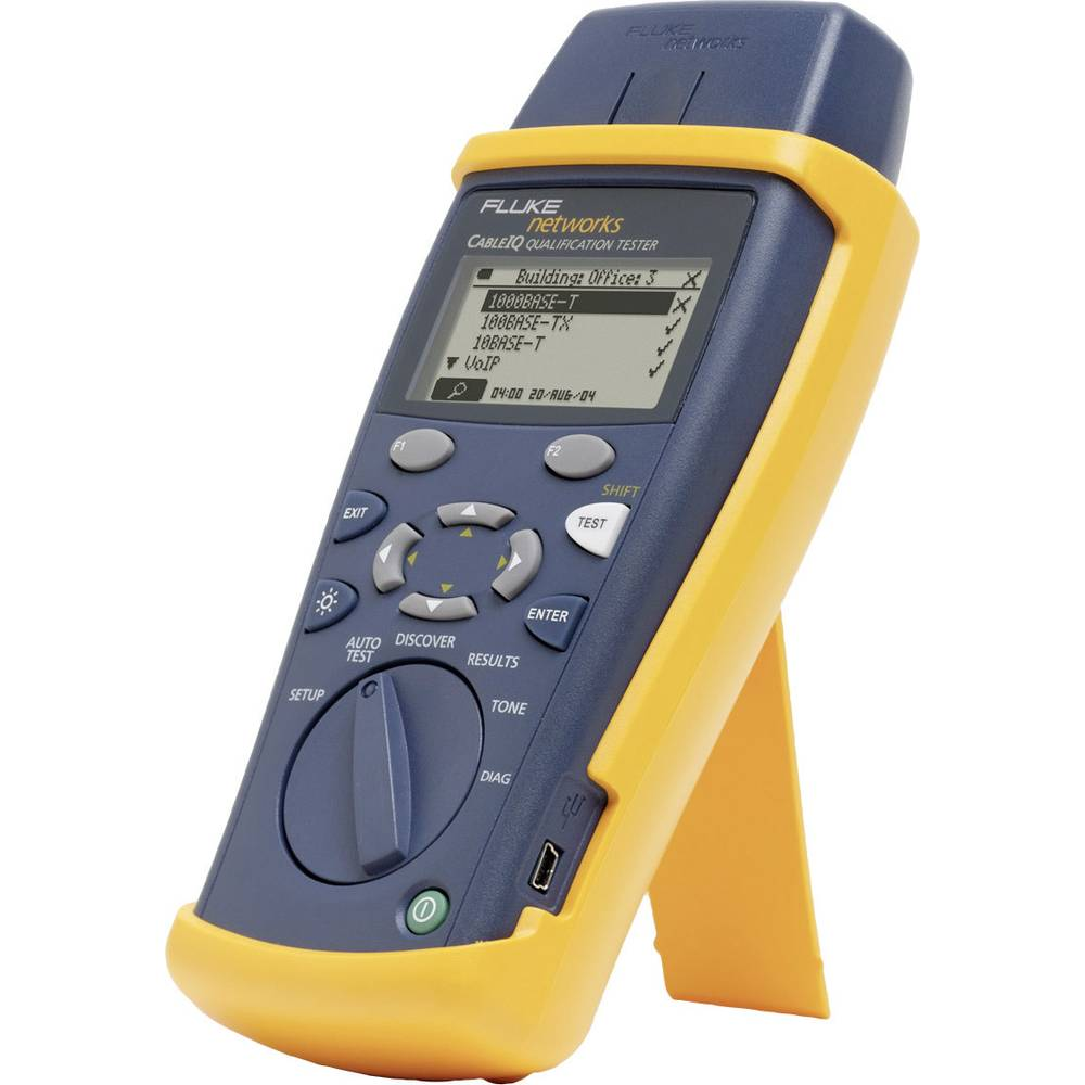 Fluke Networksciq 100the Cableiq Basic Device Cable Tester Toner For Coax Rg6 And Rg59 Circuit Testers Back