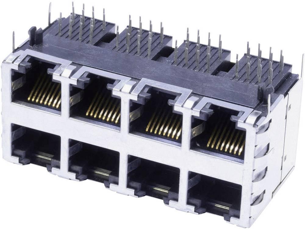 RJ45 Tilslutning, indbygning vandret BEL Stewart Connectors SS-73100-073 CAT 3 Forniklet, Metal 1 stk