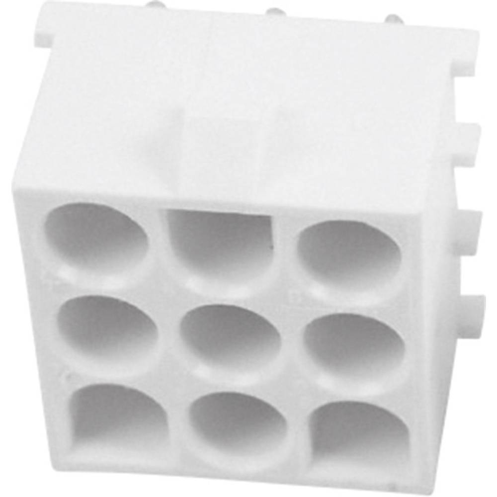 Tilslutningskabinet-printplade Universal-MATE-N-LOK Samlet antal poler 9 TE Connectivity 350828-1 1 stk