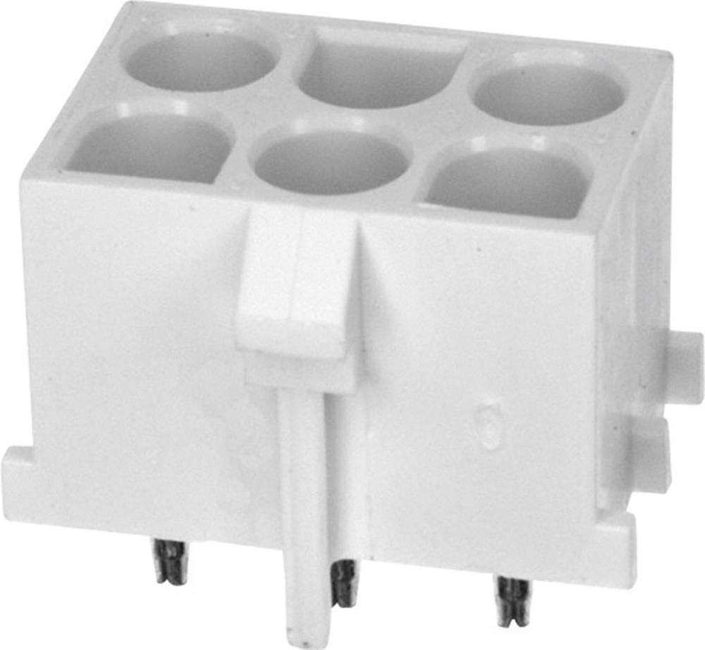 Tilslutningskabinet-printplade Universal-MATE-N-LOK Samlet antal poler 6 TE Connectivity 643424-1 1 stk