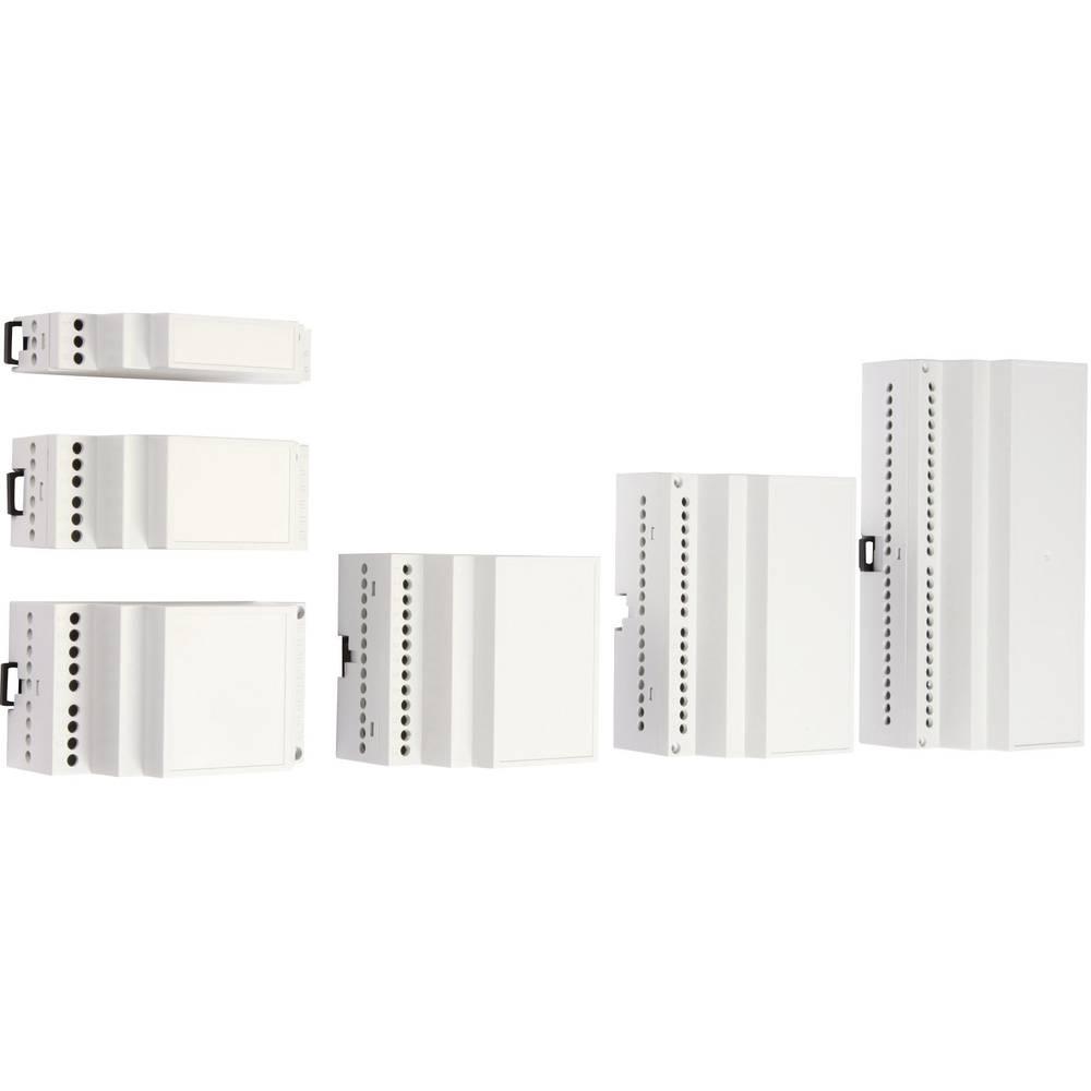 DIN-skinnekabinet MR3/CB FA RAL7035 ABS 52.5 x 90 x 55.8 ABS Lysegrå (RAL 7035) 1 stk