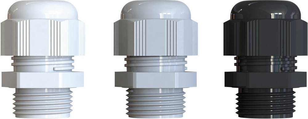 Kabelforskruning Bimed BS-10 PG48 Polyamid Sølvgrå (RAL 7001) 10 stk