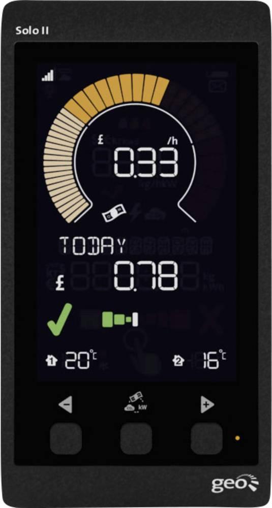 Apparat til måling af energiomkostninger GEO Solo II Display Pack CT