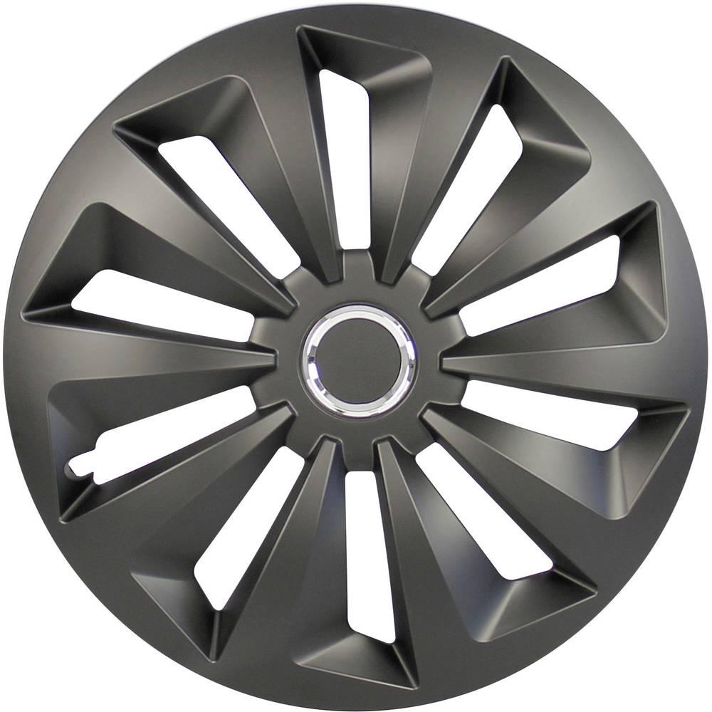 Ratkape, ukrasni poklopci kotača Fox R15 crne boje (mat) 4 komada cartrend