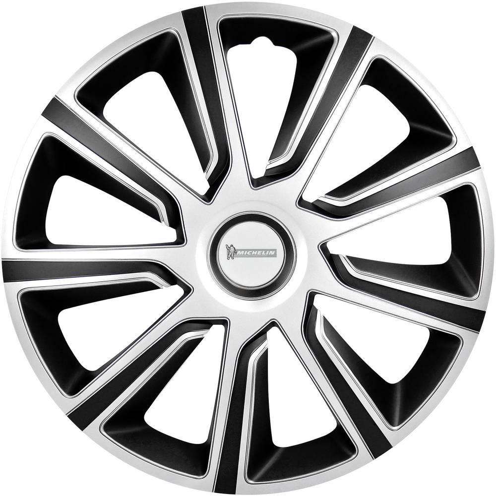 Ratkape, ukrasni poklopci kotača Louise R16 srebrne boje-crne boje 4 komada Michelin