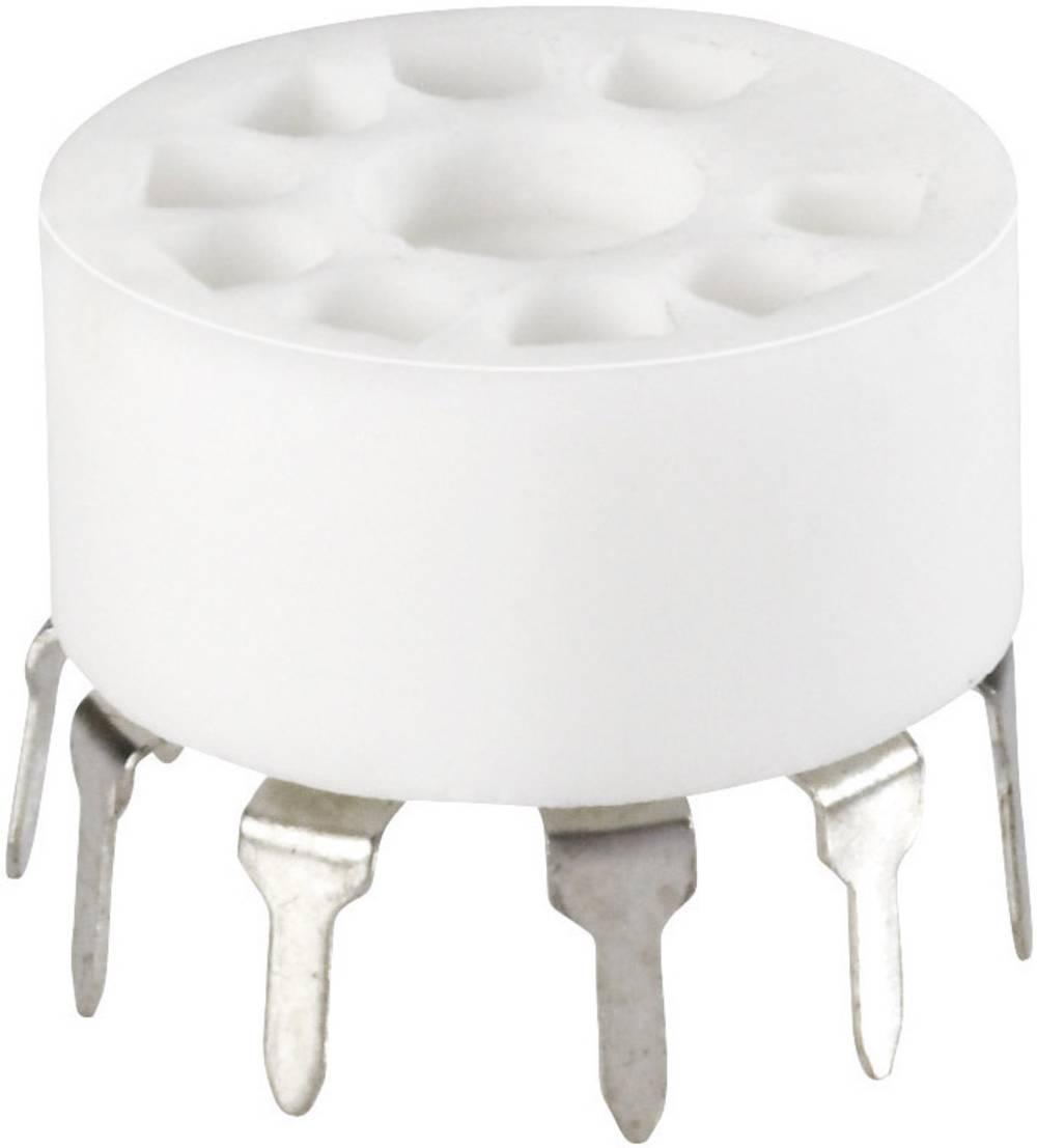 Podnožje elektronke 1 kom. 120529 št. polov: 9 podnožje: novalno vrsta montaže: tiskano vezje material: keramika