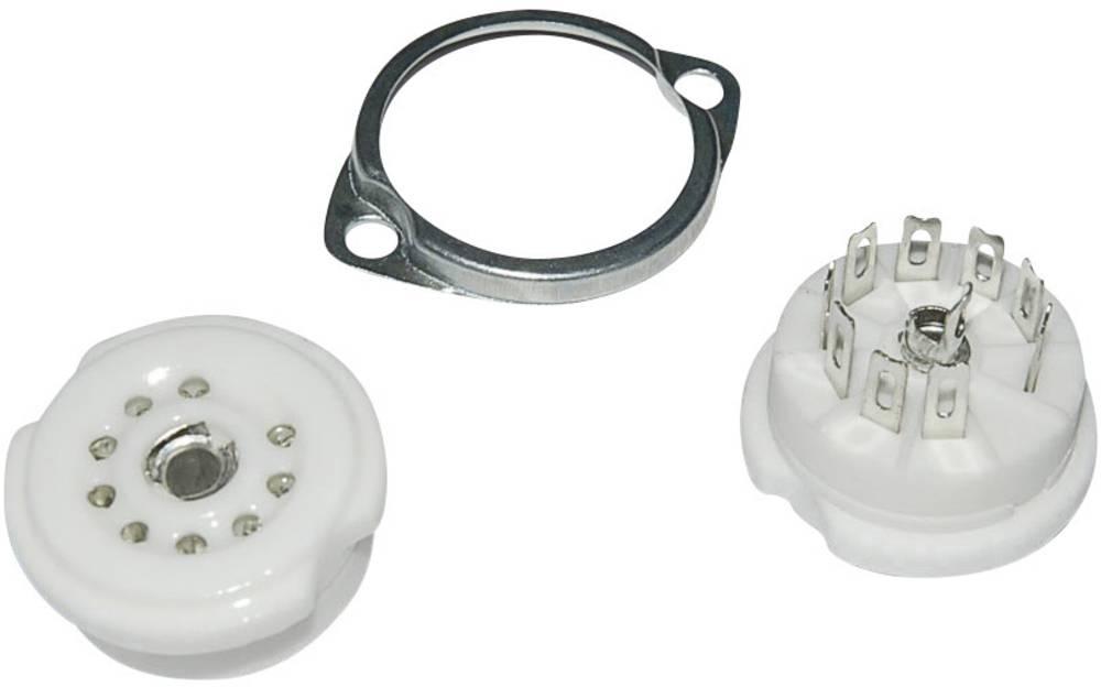 Podnožje elektronke 1 kom. 120561 št. polov: 9 podnožje: novalno vrsta montaže: šasija material: keramika