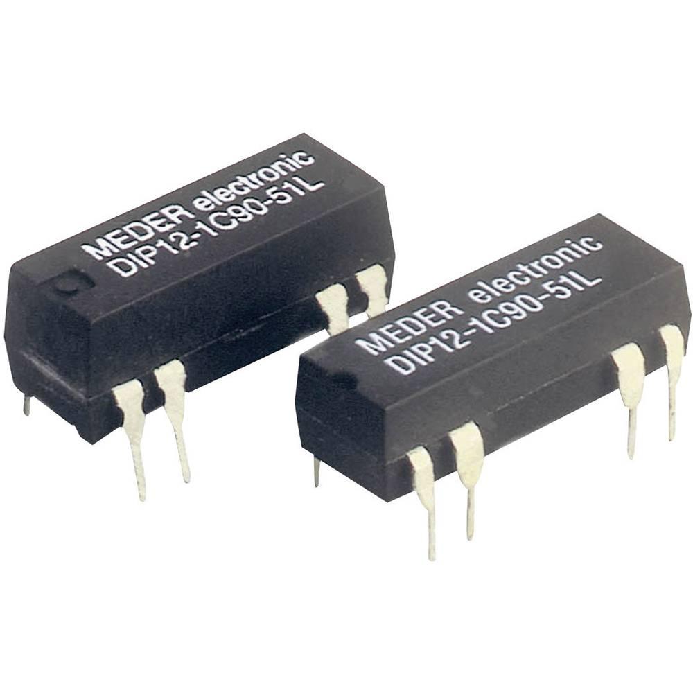Reed-relæ 1 x skiftekontakt 12 V/DC 0.5 A 10 W DIP-8 StandexMeder Electronics DIP12-1C90-51L