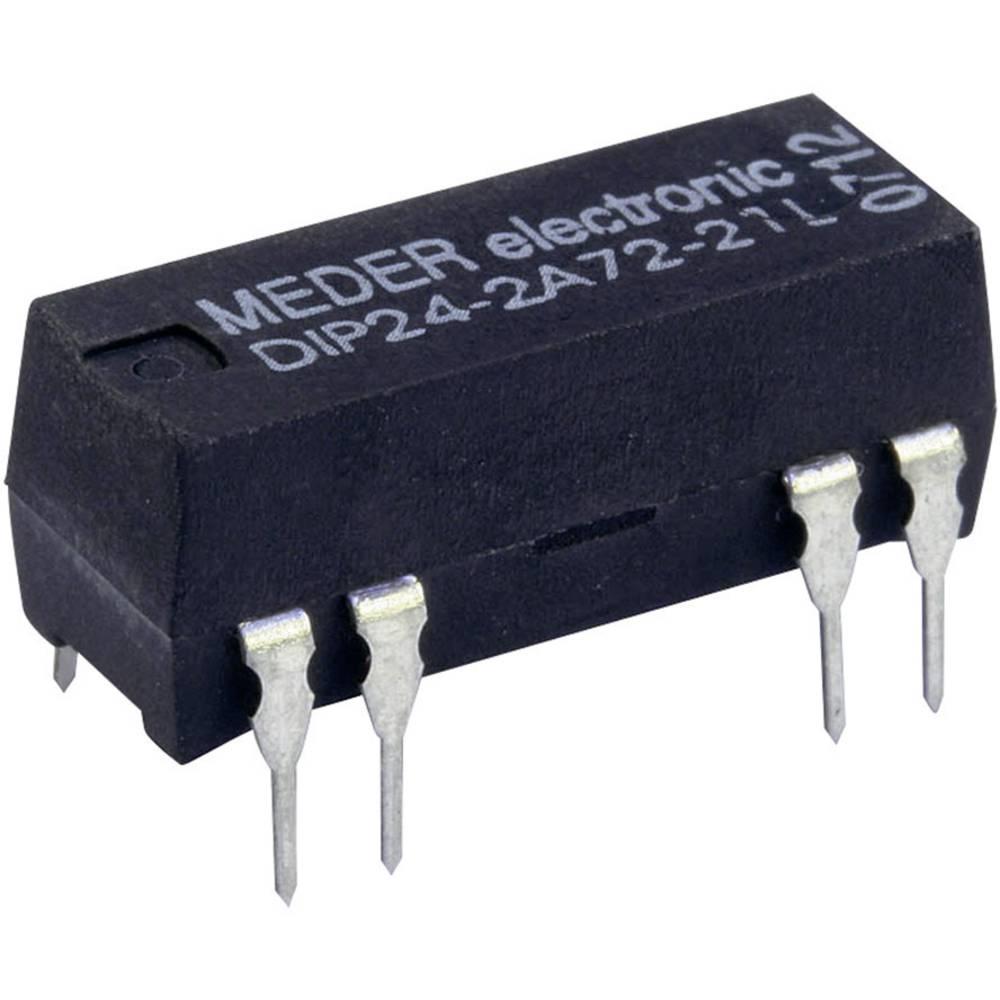 Reed-relæ 2 x sluttekontakt 12 V/DC 0.5 A 10 W DIP-8 StandexMeder Electronics DIP12-2A72-21L