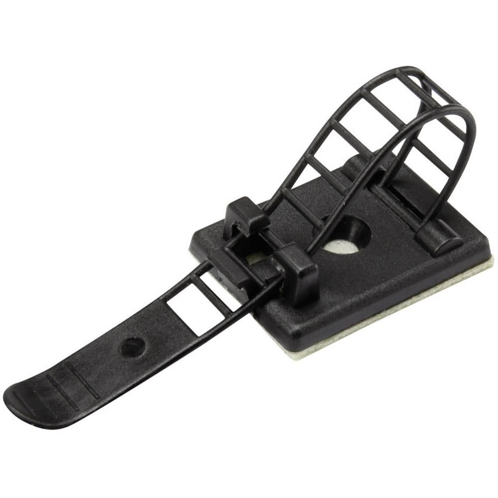 Pritrdilno podnožje, samolepljivo, namestitev s privijanjem mit Befestigungsbinder črne barve Conrad Components 93015C171 WCT-85