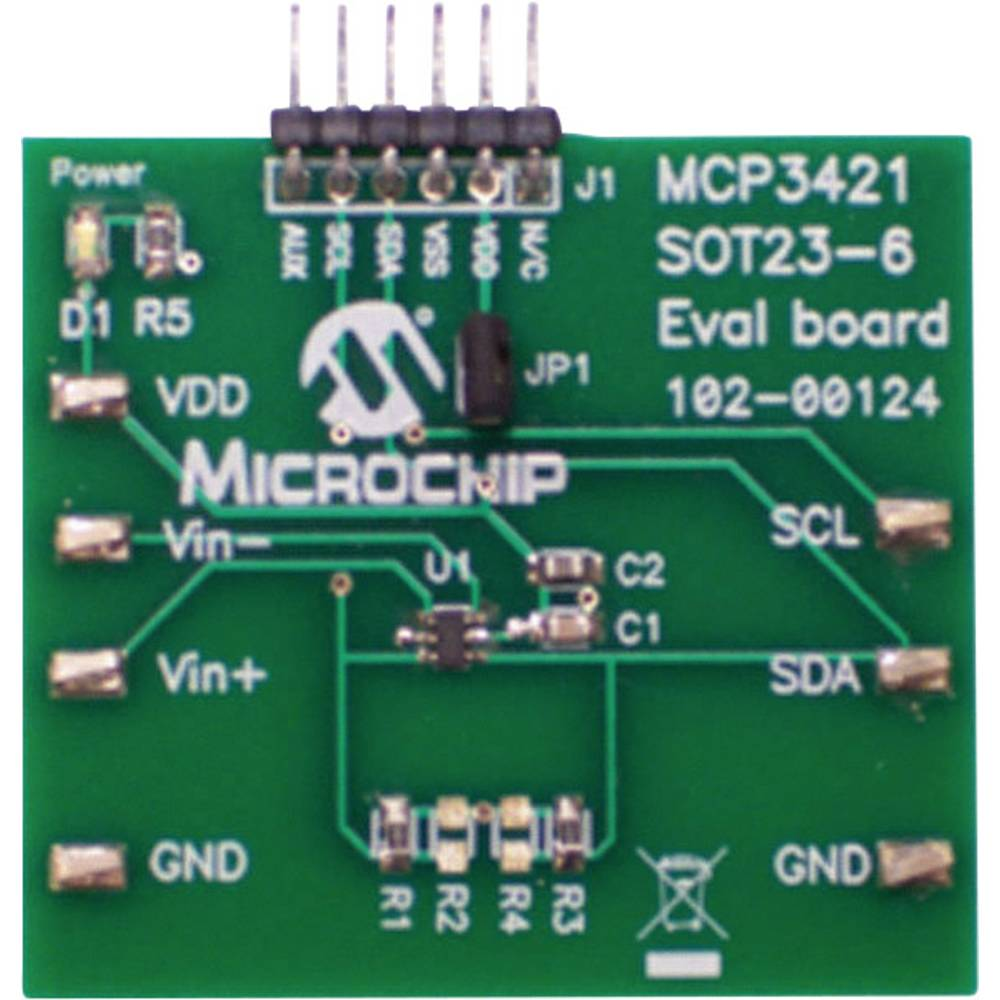 Razvojna plošča Microchip Technology MCP3421EV