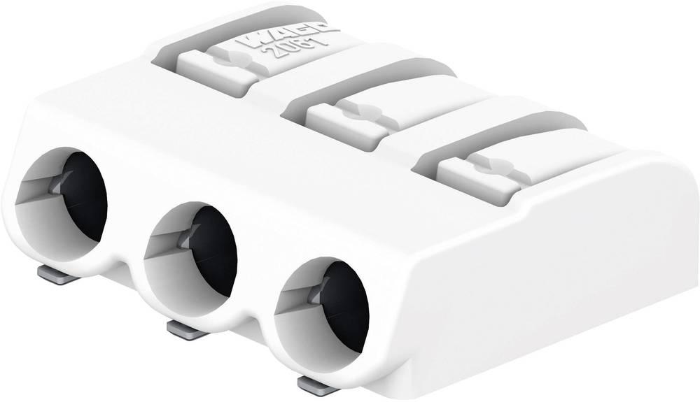 SMD-printpladeklemme WAGO 1.50 mm² Poltal 3 Hvid 1 stk