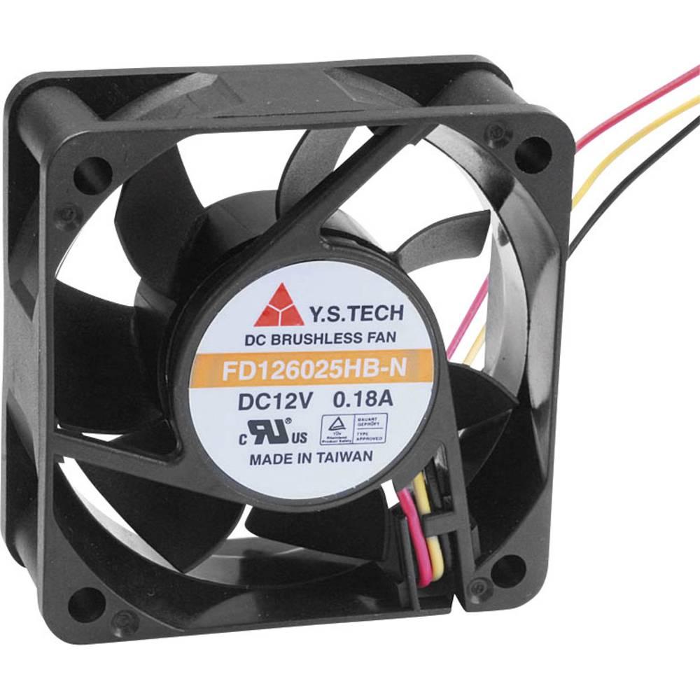 Aksial ventilator 12 V/DC 42.66 m³/h (L x B x H) 60 x 60 x 25 mm FD126025HB-N(2A7)