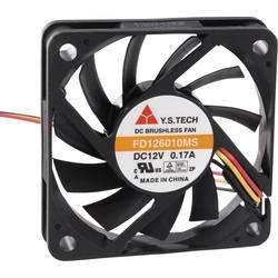 Aksialni ventilator 12 V/DC 35.7 m/h (D x Š x V) 60 x 60 x 10 mm FD126010MS(1F5)