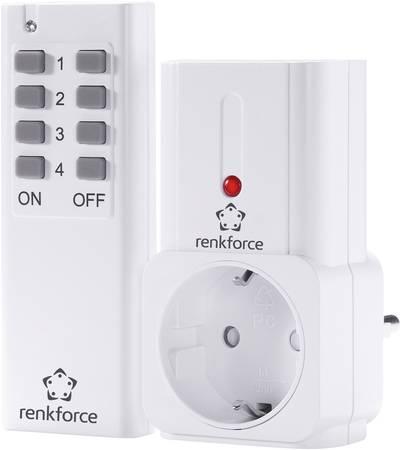 Renkforce 1208455 Wireless switch set 2-piece Indoors 2000 W