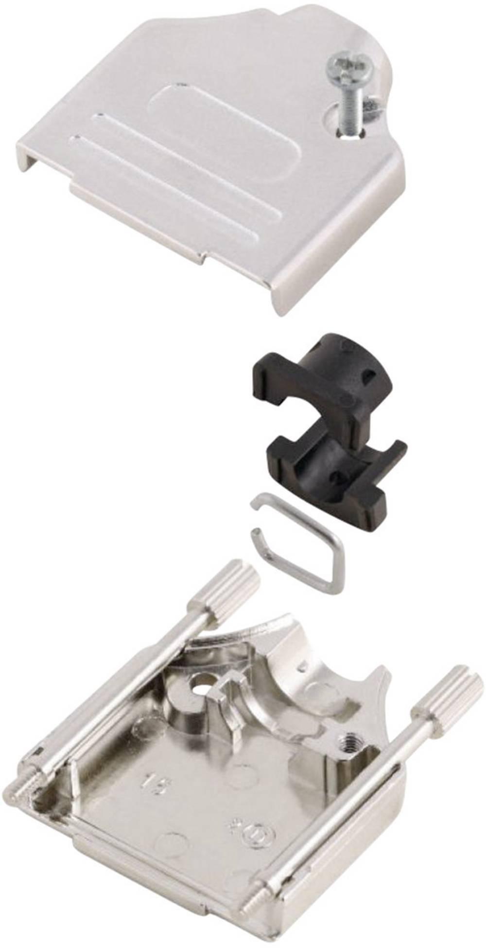 D-SUB ohišje, število polov: 15 kovinska 180 ° srebrne barve MH Connectors MHDTZK15-K 1 kos