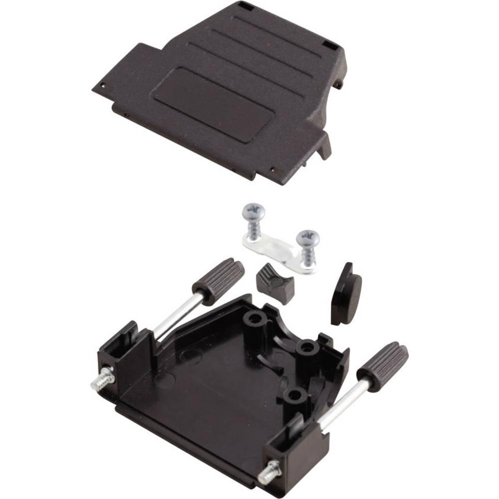D-SUB ohišje, število polov: 9 iz umetne mase 180 °, 45 ° črne barve MH Connectors MHDSSK-P-9-L-K 1 kos