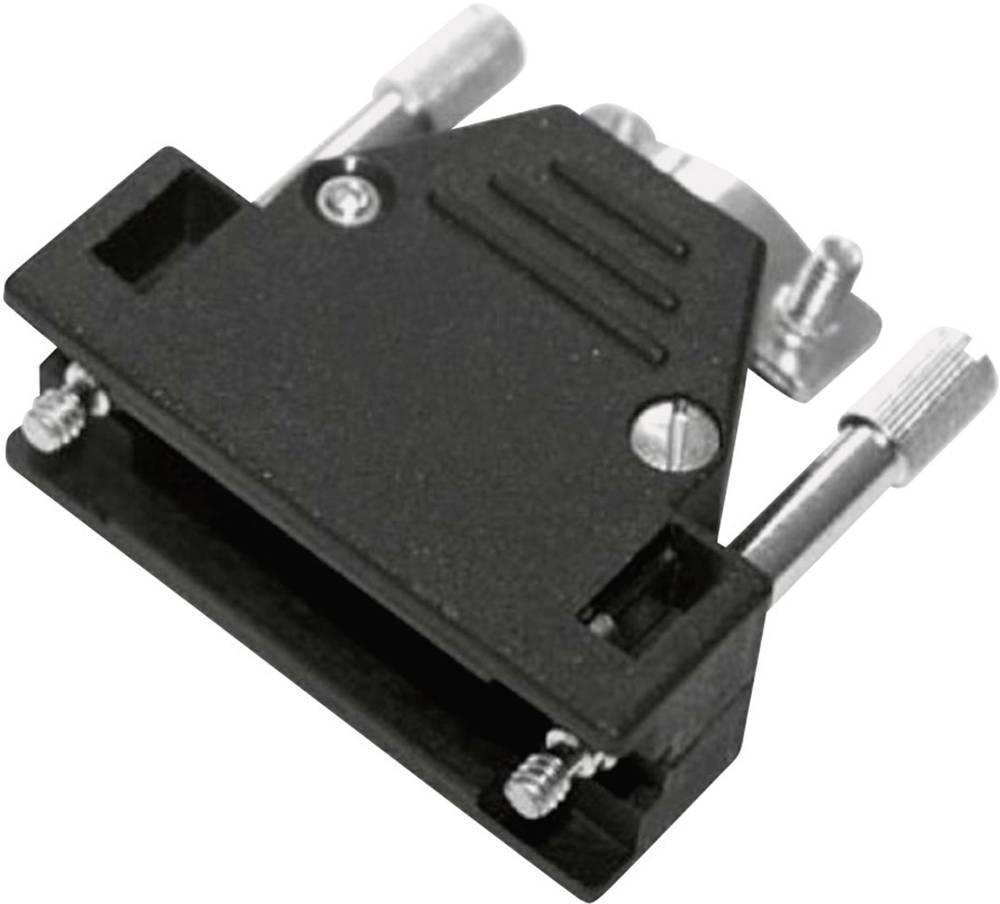D-SUB ohišje, število polov: 37 iz umetne mase, metalizirano 180 ° srebrne barve MH Connectors 2801-0106-04 1 kos
