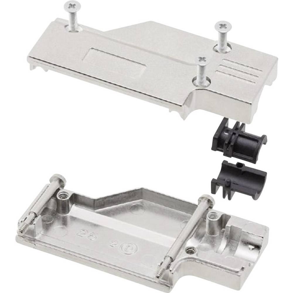 D-SUB ohišje, število polov: 9 kovinska 90 ° srebrne barve MH Connectors MHDCMR09-RA-K 1 kos