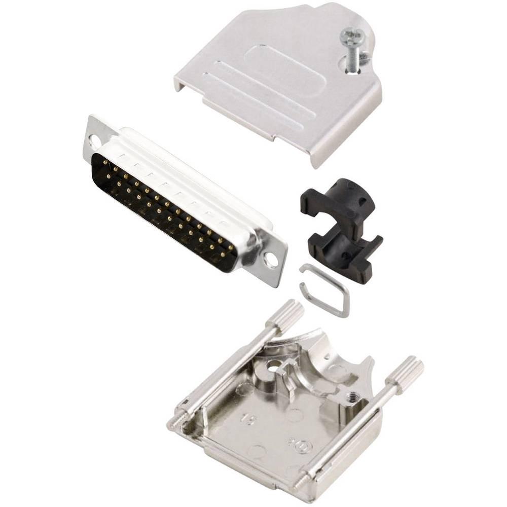 D-SUB vtič 180 ° število polov: 25 s spajkalno posodo MH Connectors MHDTZK25-DB25P-K 1 kos