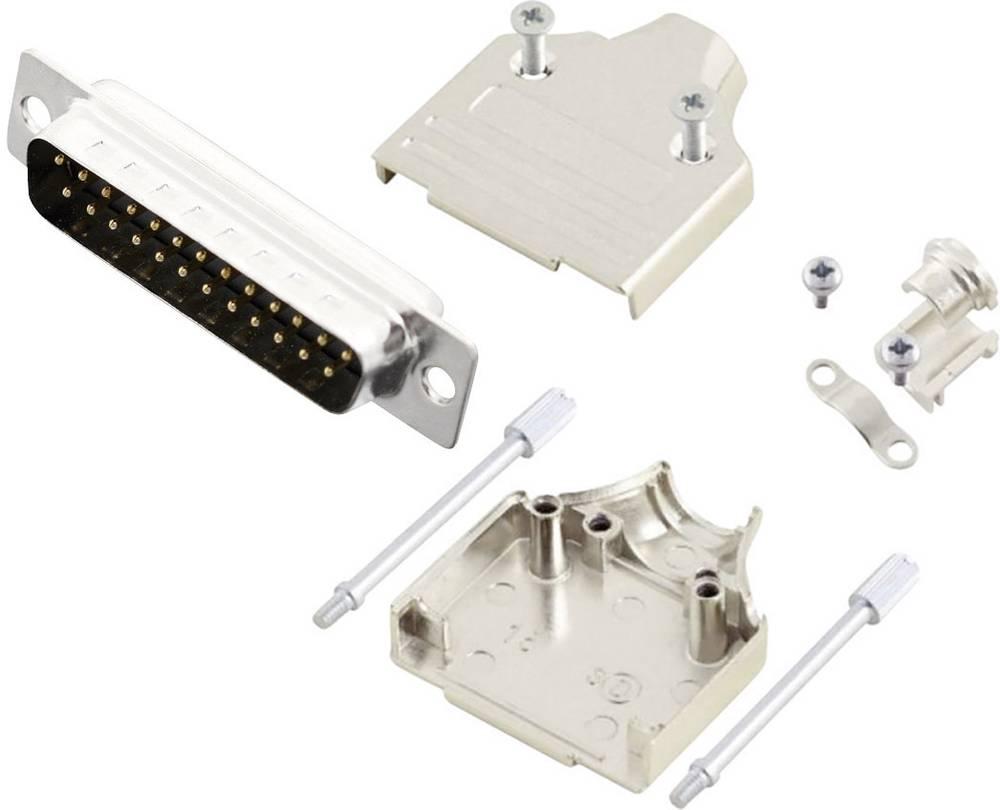 D-SUB vtič 180 ° število polov: 25 s spajkalno posodo MH Connectors MHDM25-DB25P-K 1 kos