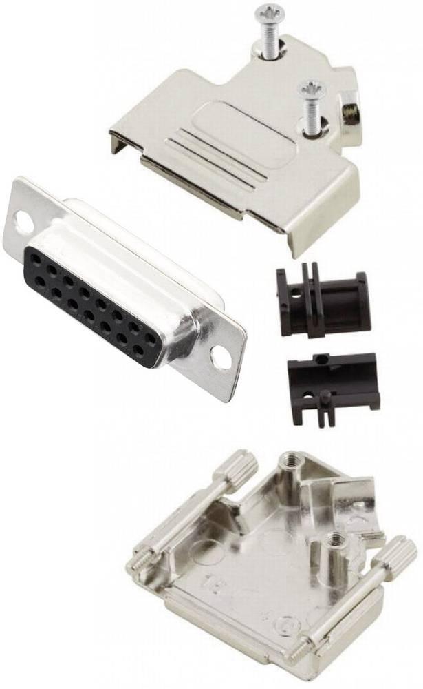 D-SUB vtičnica 45 ° število polov: 15 s spajkalno posodo MH Connectors MHD45ZK15-DM15S-K 1 kos