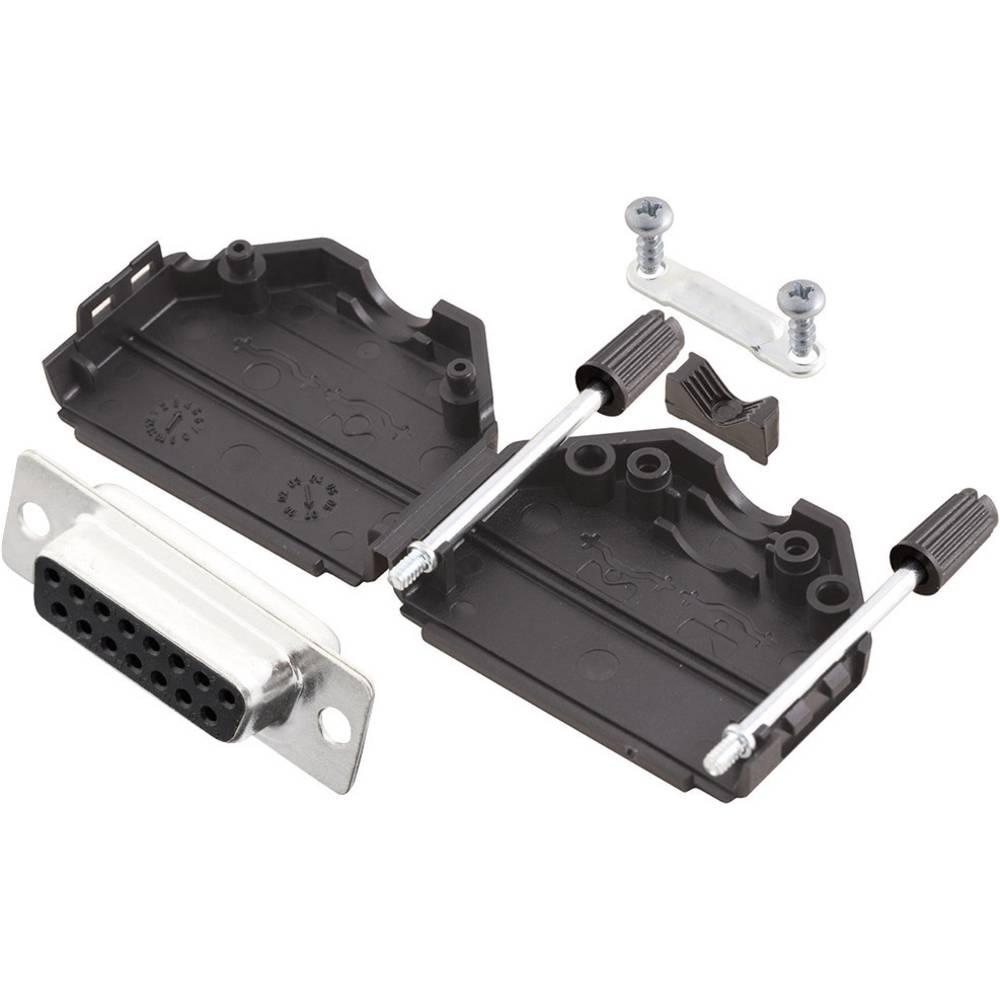 D-SUB vtičnica 180 ° število polov: 15 s spajkalno posodo MH Connectors MHDPPK15-DB15S-K 1 kos