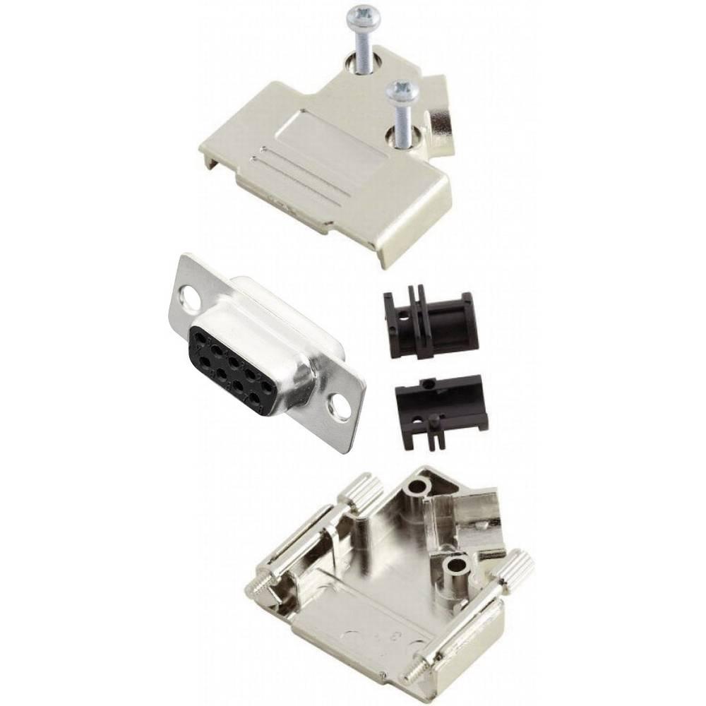 D-SUB vtičnica 45 ° število polov: 9 s spajkalno posodo MH Connectors MHD45PK9-DB9S-K 1 kos