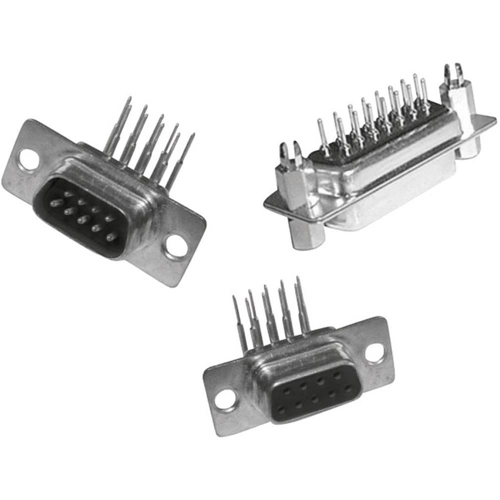 D-SUB vtične letve 180 ° število polov: 9 MH Connectors MHDD9-F-T-B-M 1 kos