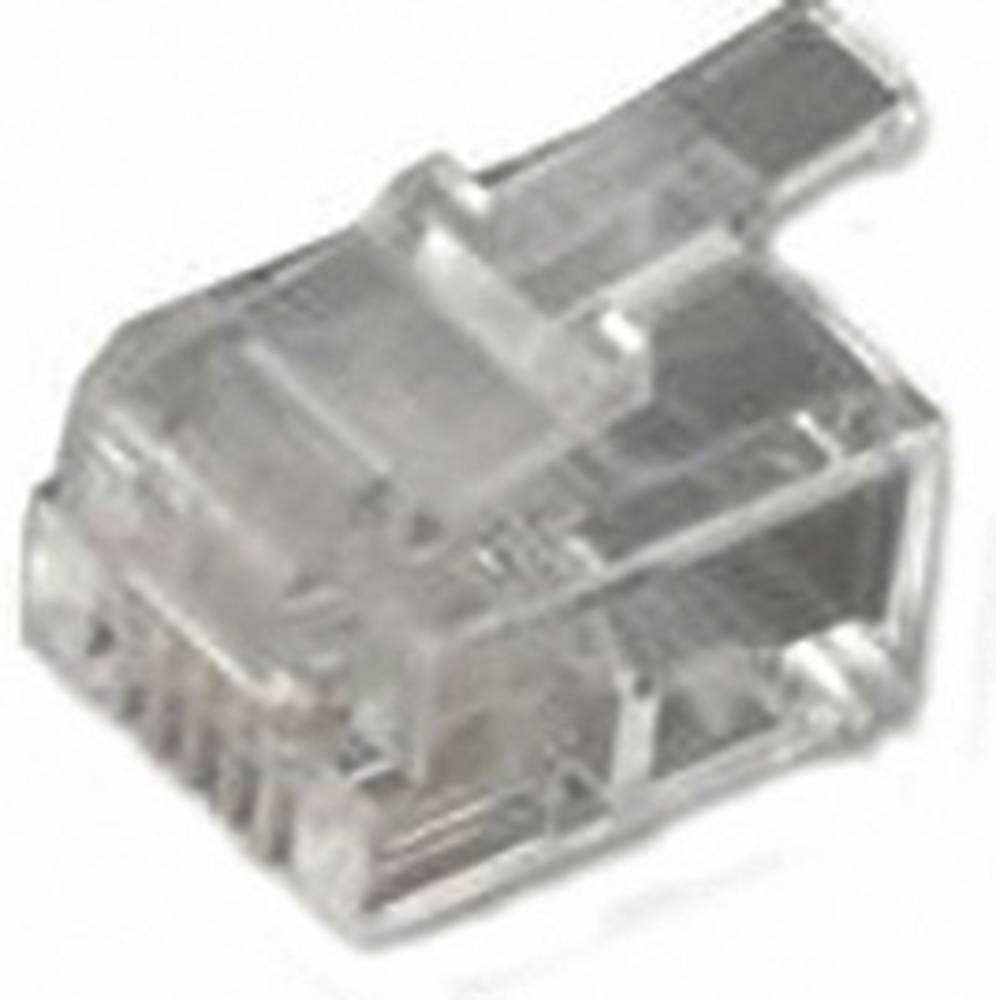 RJ11 Stik, lige MH Connectors MHRJ126P4CR Transparent 1 stk