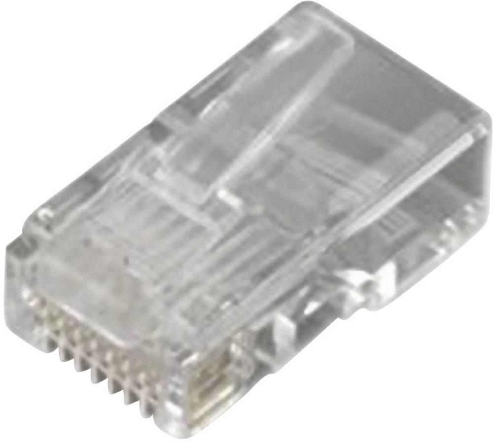 RJ45 Stik, lige MH Connectors MHRJ458P8CR Transparent 1 stk