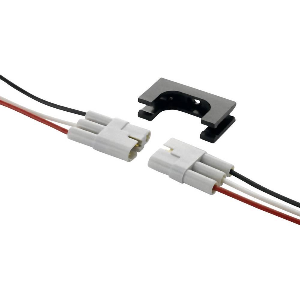 Unisex-kabelski vtični konektor,za-priključni kabel poli: 3 vklj. s prameni črne barve/bele barve/rdeče barve 8.5 A 520-210-003-