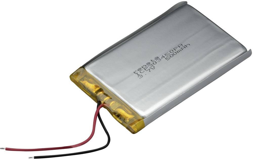 LiPo-akumulator Renata ICP303450PA 3.7 V 510 mAh (D x Š x V) 52 x 34.5 x 3.5 mm 100701