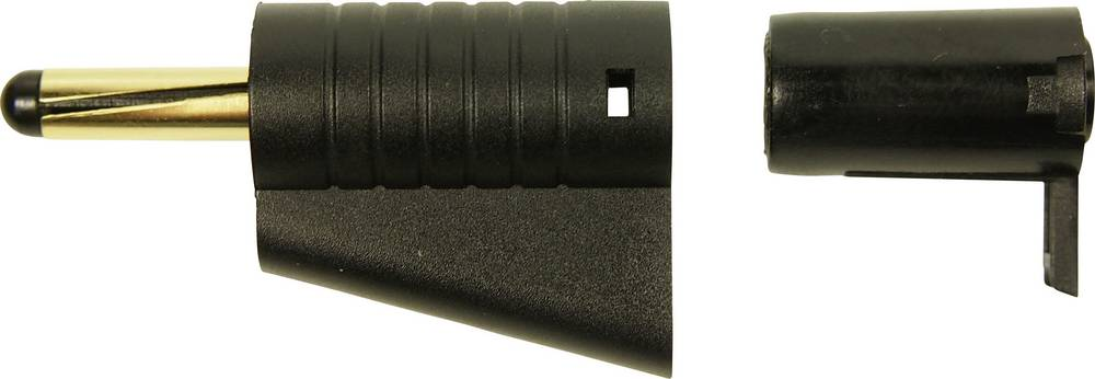 Laboratoriestik Stik, lige Cliff FCR149850 4 mm Sort 1 stk