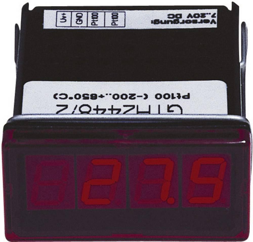 Greisinger GTH2448/3 LED- prikazovalnik GTH 2448/3Pt100, 2-žični, -60 do +199.9 °C vgradne mere 45 x 22 mm kalibrirano po DAkkS