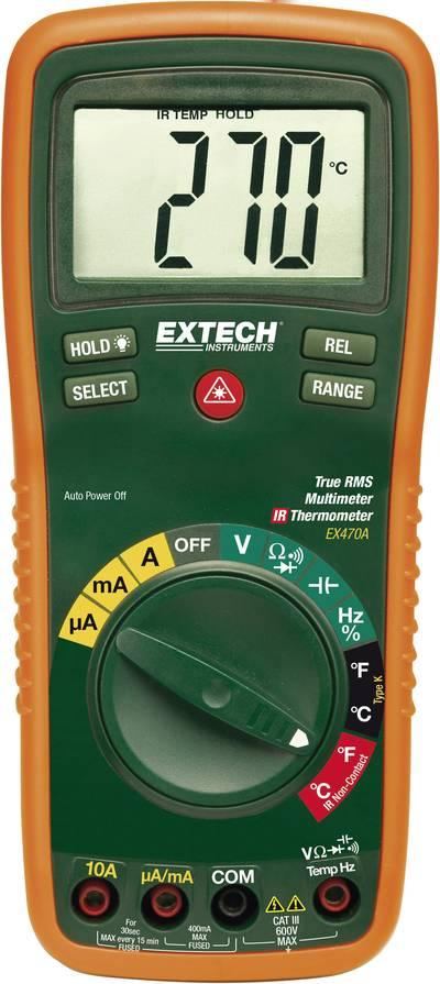 Extech EX470 Handheld multimeter Digital Calibrated to: Manufacturer's standards (no certificate) CAT III 600 V Display