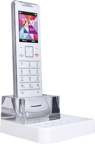 Cordless Analogue Motorola IT.6.1T Weiss Designer Phone, Ultra Slim, ...