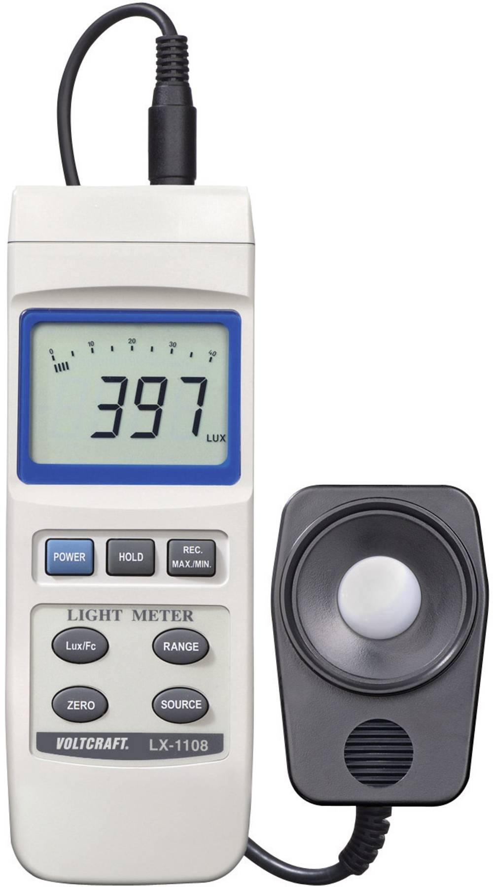 VOLTCRAFT® LX-1108 luksmeter,merilnik svetilnosti, merilnik osvetlitve 0 - 400000 lx