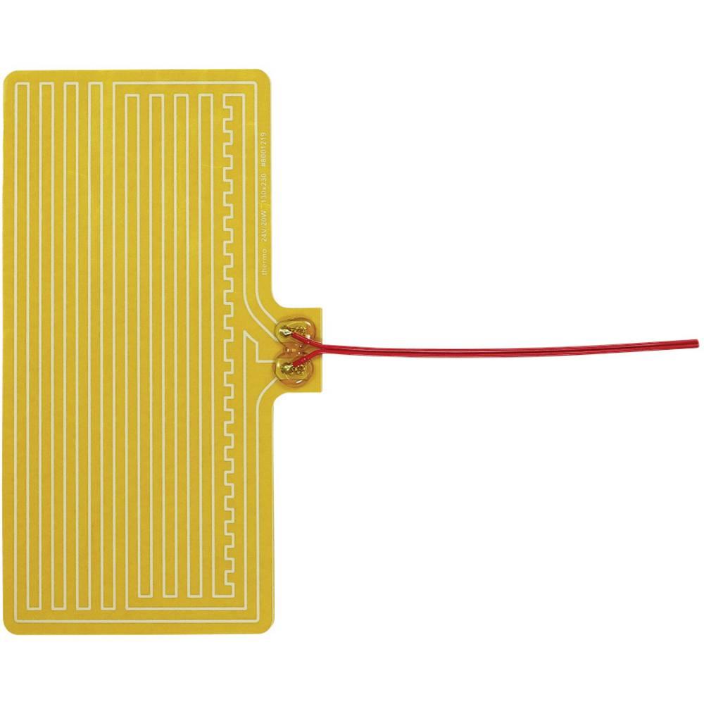 Polyester Varmefolie selvklæbende 24 V/DC, 24 V/AC 20 W Beskyttelsestype IPX4 (L x B) 230 mm x 130 mm Thermo
