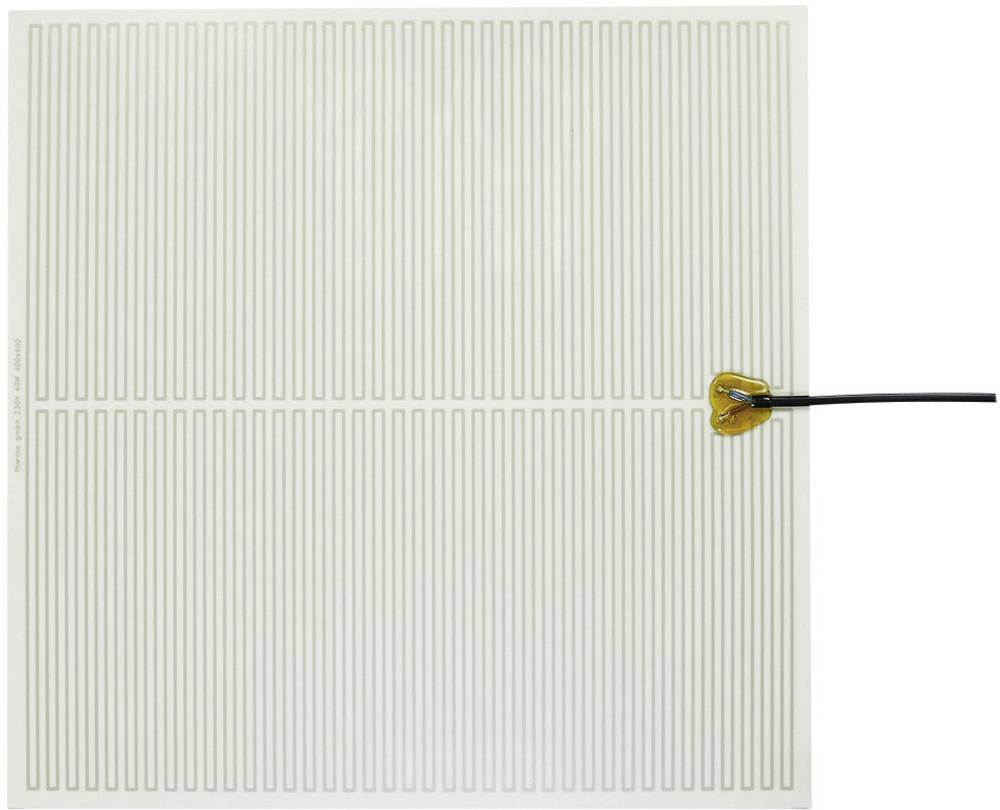 Polyester Varmefolie selvklæbende 230 V/AC 40 W Beskyttelsestype IPX4 (L x B) 400 mm x 400 mm Thermo