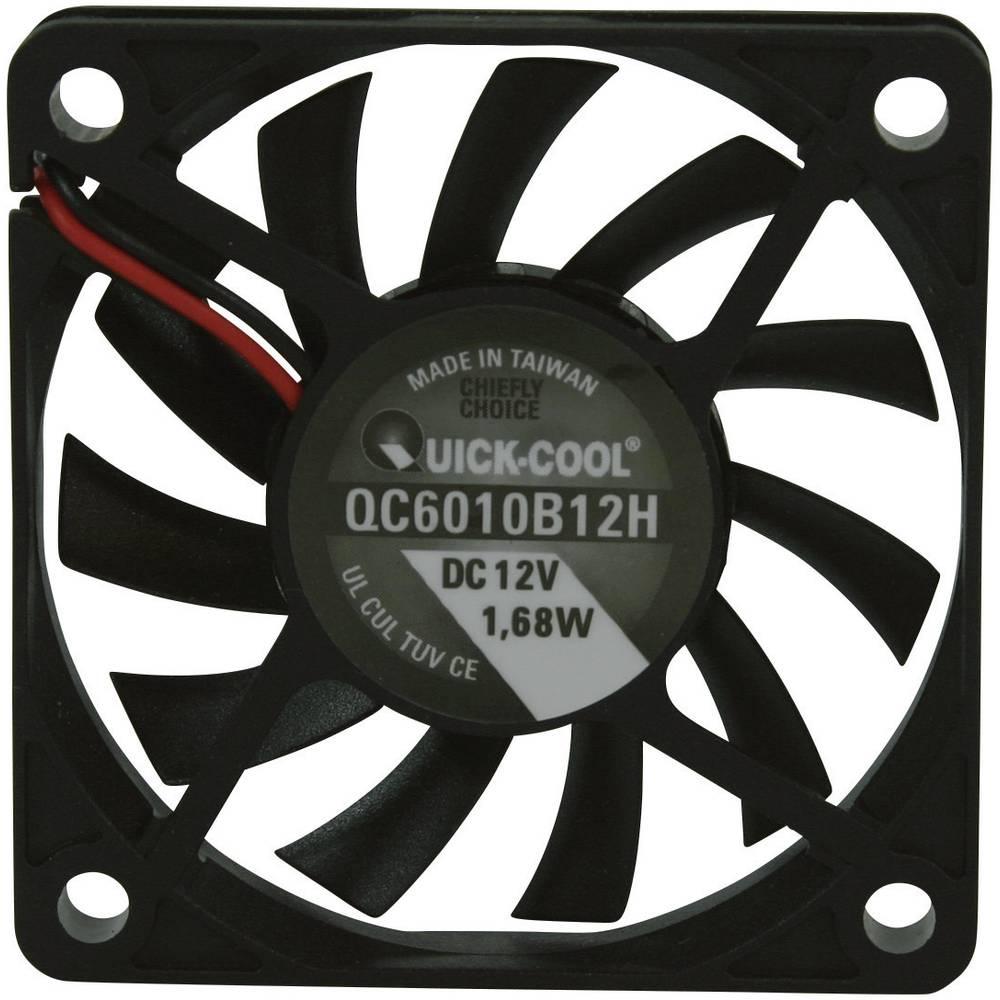 Aksial ventilator 12 V/DC 25.74 m³/h (L x B x H) 60 x 60 x 10 mm QuickCool QC6010B12H