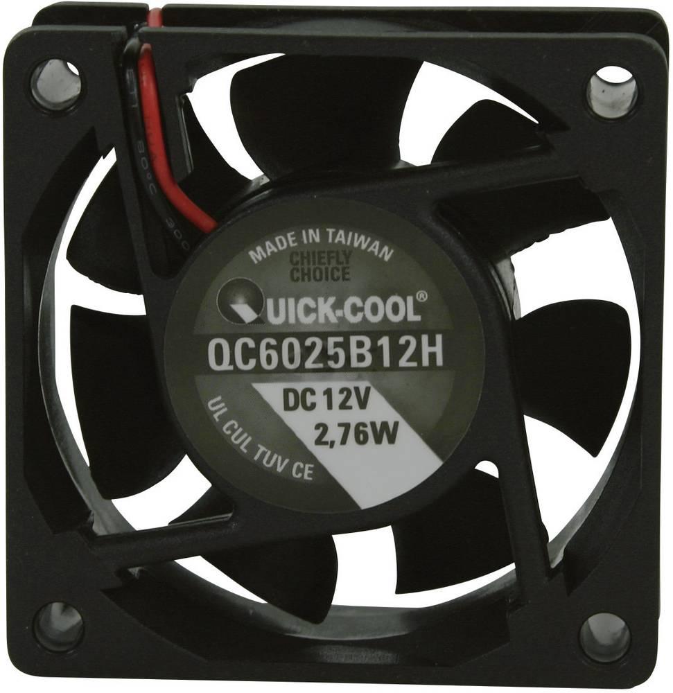 Aksial ventilator 12 V/DC 34.86 m³/h (L x B x H) 60 x 60 x 25 mm QuickCool QC6025B12H