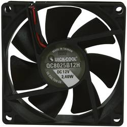Aksialni ventilator 12 V/DC 67.96 m/h (D x Š x V) 80 x 80 x 25 mm QuickCool QC8025B12H